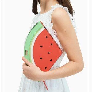 NWT Kate Spade 'make a splash' Watermelon Clutch